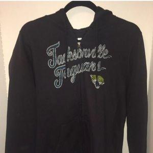 NFL Jacksonville Jaguars Zip Hoodie Ladies Large